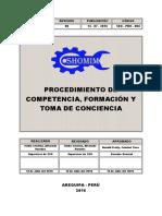 SEG - PRO - 004 PROCEDIMIENTO PARA COMPETENCIA, FORMACIÓN Y TOMA DE CONCIENCIA