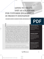Collaborating to Create the Internet as a Platform for Customer Engagement in Product Innovation