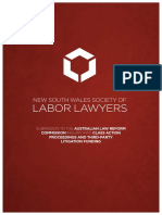 NSW Labor Lawyers Submission - Inquiry into Class Action Proceedings and Third-Party Litigation Funding