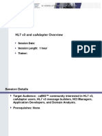 HL7 v3 and caAdapter Overview 20071112