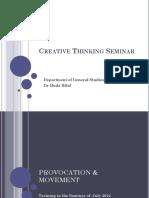 Creative Thinking Seminar
