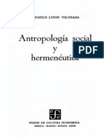Lison Tolosana Carmelo - Antropologia Social Y Hermeneutica.pdf