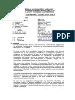 SILABO MAT. BASICA  II 2012-II EL