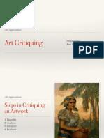 Art Critiquing