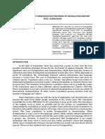 THE APPLICATION OF FOREIGNIZATION METHODS IN TRANSLATING REPORT TEXT SASIRANGAN_Ega Maulida Sari