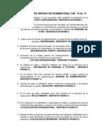 PREGUNTAS PARA REPASO DE EXAMEN FINAL CAP 10 Y 14 ADMON RESPUESTAS