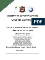 PROYECTO DE PARTICIPACIÓN ESTUDIANTIL