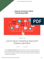 ¿Cómo hacer marketing relacional_ Etapas y ejemplos