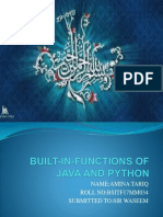 Built-in-functions of java and python