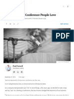 How To Hold A Conference People Love