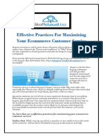 Effective Practices for Maximizing Your Ecommerce Customer Service