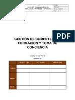 GESTION DE COMPETENCIA FORMACION Y TOMA DE CONCIENCIA