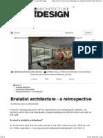 brutalistic architecture a retrospect