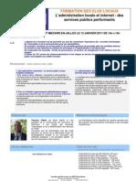 Formation des élus locaux  - L'administration locale et internet