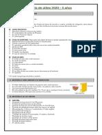 Listas de útiles - 5 años (1)