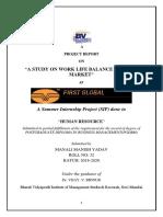 WORK LIFE BALANCE PGDBM 32