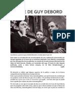EL CINE DE GUY DEBORD, por Giorgio Agamben