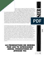 Dossier sur la télévision en Afrique