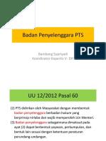 Badan Penyelenggara PTS