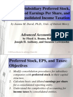 Chapter 10 Subsidiary Preferred Stock, Consolidated Earnings Per Share, and Consolidated Income Taxation