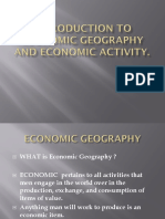 1. Introduction to Economic Geography and Economic Activity