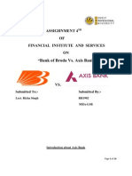 """FINANCIAL  INSTITUTE  AND  SERVICES  ON """"Bank of Broda Vs. Axis Bank"""""""