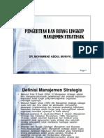 Pengertian Dan Ruang Lingkup Manajemen Strategik