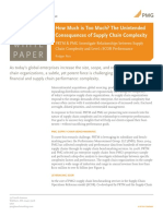 Complexity Impact on Supply Chain