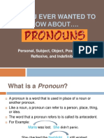 Pronoun PPT with embedded Edpuzzle videos