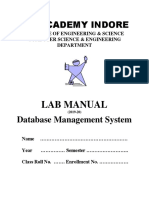 DBMS LAB MANUAL 2019