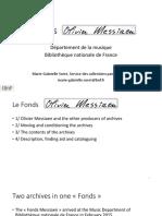 Fondos Messiaen BNF