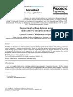 bidding decision using multi criteria analysis methods