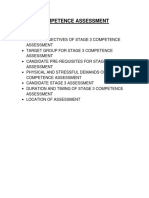 STAGE 3 COMPETENCE ASSESSMENT