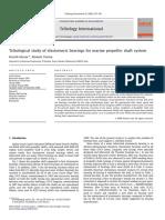 Tribological study of elastomeric bearings for marine propeller shaft system