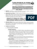 TDR SERVICIO DE DISPONIBILIDAD HIDRICA