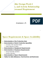 flow, space, and activity relationship and personnel requirement