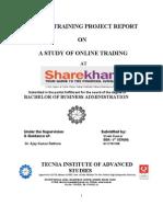 summer training report at sharekhan ltd.