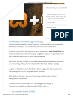Cara Install WordPress di Localhost Menggunakan XAMPP