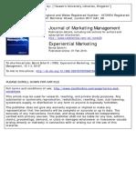 experiential marketing schmitt1999