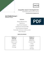 Jacs Buffet Package I 2019