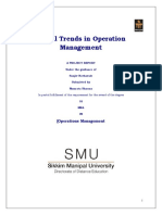 Global Trends in Operation Management