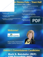 Commissioner Donna Fiala Town Hall Presentation in Marco Island - Feb. 4, 2020
