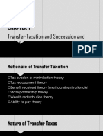CHAPTER 1 - SUCCESSION AND TRANSFER TAXES