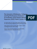 The Interactive White Board, Pedagogy and Pupil Performance Evaluation