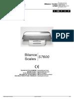 Fazzini Scales S7666 - Service manual