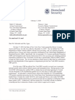 DHS Letter Trusted Traveler Programs