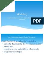 Módulo 7-Crescimento Económico Moderno