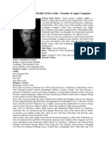 Biography and Full Profile of Steve Jobs