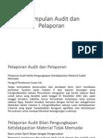 4.2. kesimpulan audit dan pelaporan