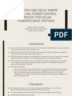 An Energy and Delay Aware Downlink Power Control Strategy for Solar Powered Base Stations